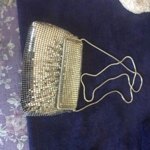 Silver sparkle mess dress bag